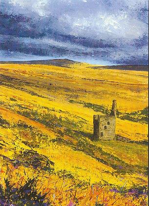 Heavy Skies at Wheal Betsy, Dartmoor