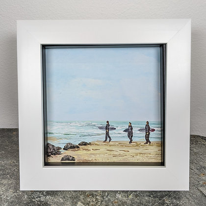 Original Miniature Painting, Gone Surfing, Cornwall