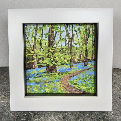 Original Miniature Painting, Devon Bluebells