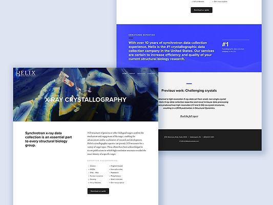 Desktop view of Helix BioStructures website redesign