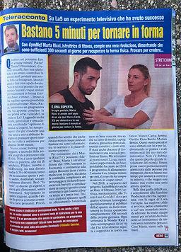 Marta Ricci Personal Trainer articolo su VERO scritto da Claudio Guerrini. GYM ME 5' prima edizione