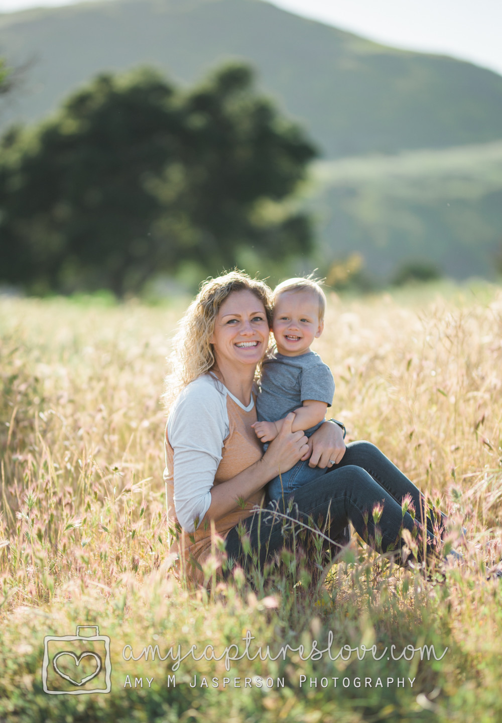 Family photos at the San Juan Capistrano Open Space. Wildflowers are in bloom!