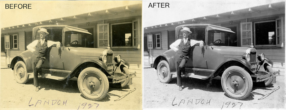 1927 photo before and after restoration