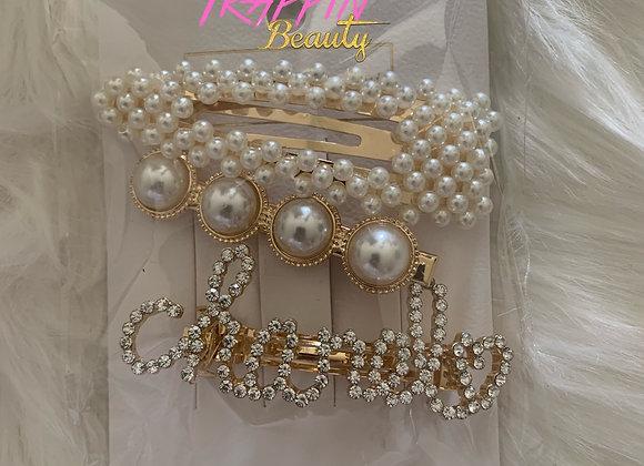Cha  Pearls Hair Pin Set
