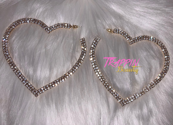 Heart Me Earrings ( Oversized)