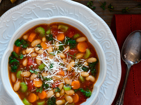 Nothing says comfort in the dead of winter like a bowl Tuscan Bean soup!