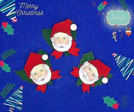 Santa Christmas Brooch