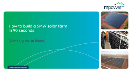 How to build a 5MW solar farm in 90 seconds