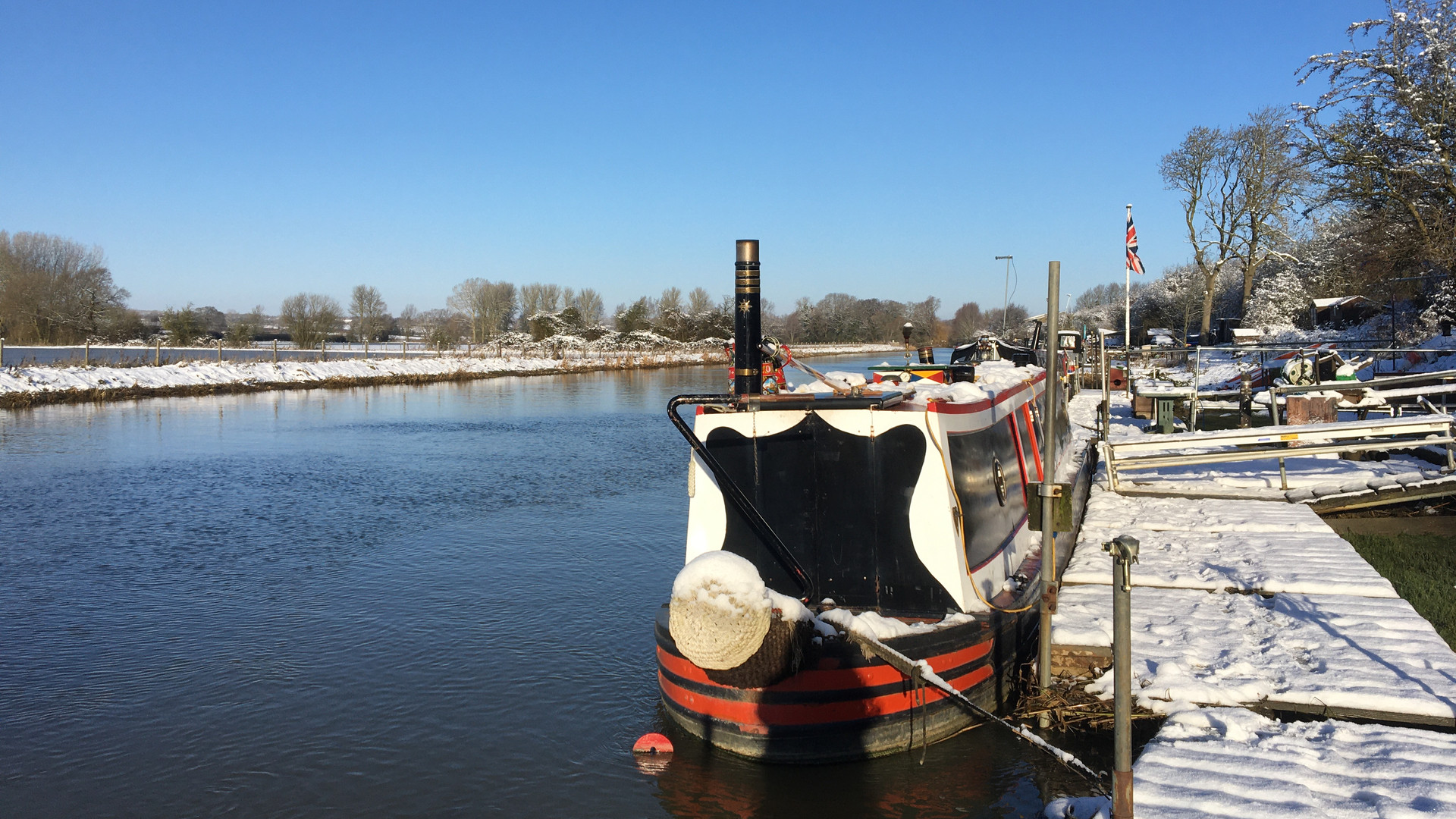 Barnwell Moorings in Winter