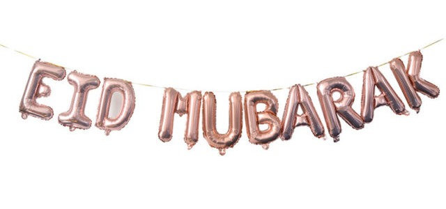 Rose Gold Eid Mubarak Balloon
