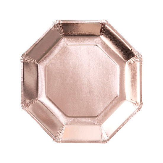 Rose Gold Foiled Plate