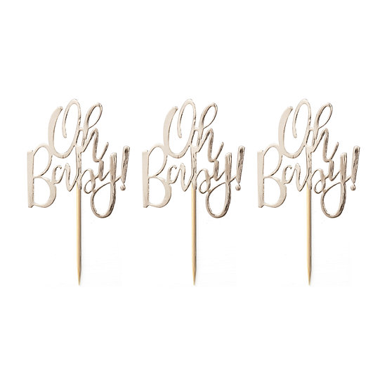 'Oh Baby!' Cupcake Toppers