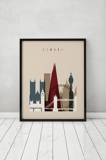 The Rustic London Print