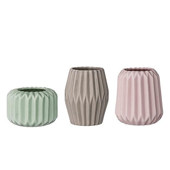 Fluted Pastel Mini Vases