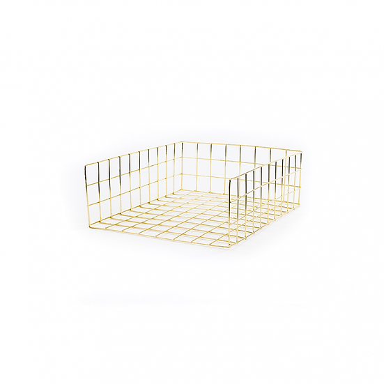 Gold wire paper tray