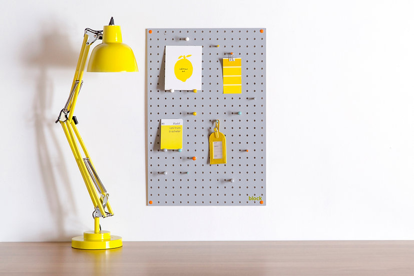 Painted Grey Pegboard