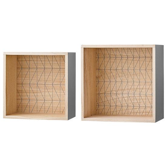 Grey Display Boxes