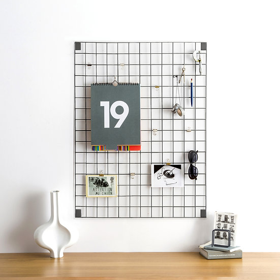 Grey Wire Mesh Memo Board