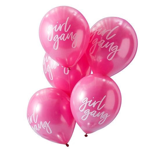 Pink Girl Gang Balloons