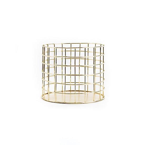 Gold Wire Circular Pot