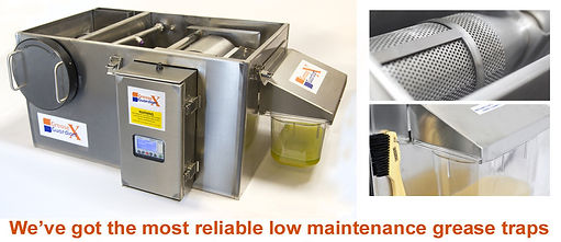 The most reliable low maintenance grease traps | removal devices