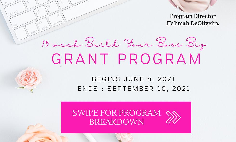 Late Registration: 15 Week Build Your Business Grant Program