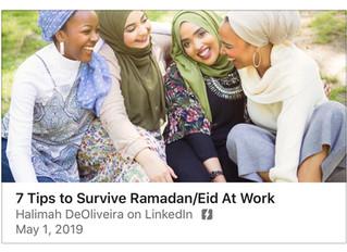 7 Tips to Survive Ramadan/Eid At Work