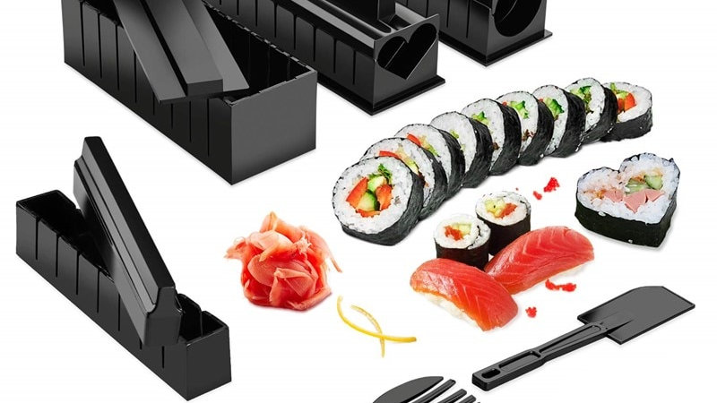 10 Pcs/Set DIY Sushi Making Kit Roll Sushi Maker Rice Roll Mold Kitchen Sushi