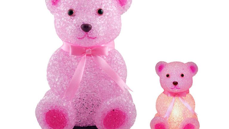Childrens Bedroom Decor EVA Night Light Pink Bear
