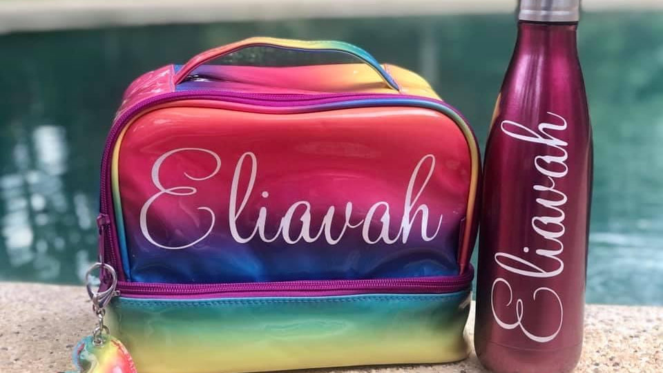 Personalised Bag and Drink Bottle