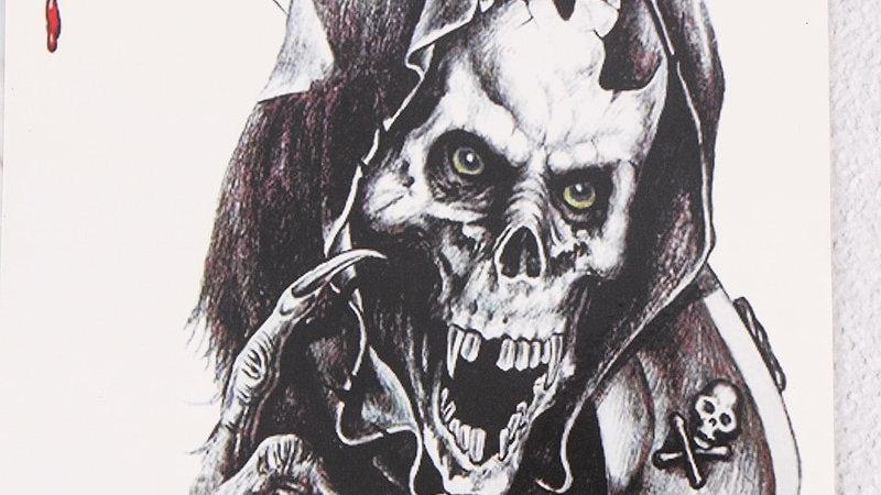 1Pc Henna Fake Flash Tattoo Stickers Cool Animals Skull Body Art Eagle Waterproo