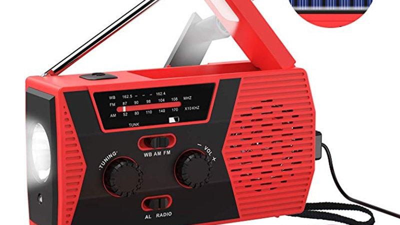 EDC USB Phone Emergency Charger Solar Hand Crank Portable Weather Radio