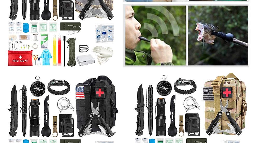 33-In-1 Emergency Survival Gear Kit Outdoor Safety Survival Gear