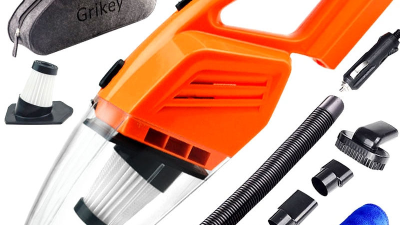 GRIKEY Car Vacuum Cleaner Car Handheld Vacuum Cleaner Mini Vacuum Cleaner for