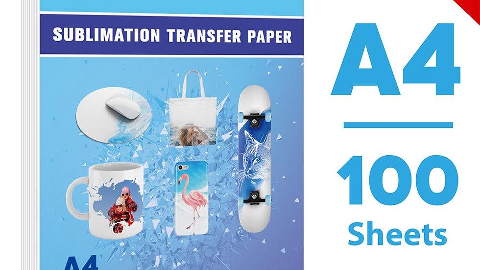 Inkjet Sublimation Heat Transfer Paper 100sheets A4 105g for Any Inkjet Printer