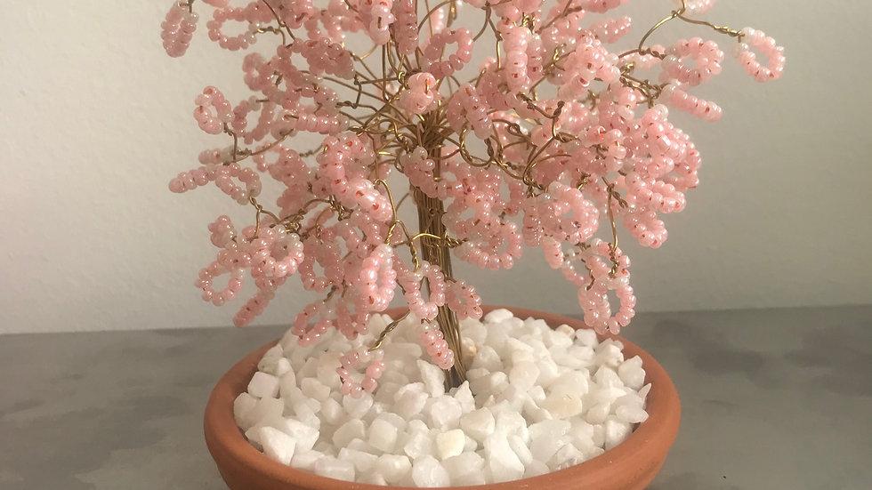 Bonsai Wire Tree Ornament (Pink)