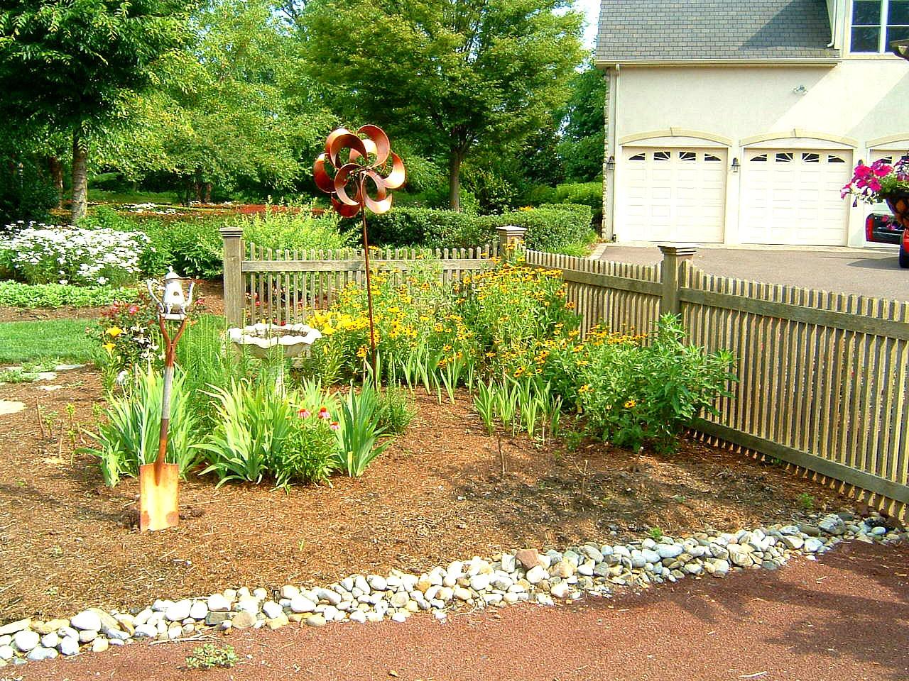 Garden with Sculpture