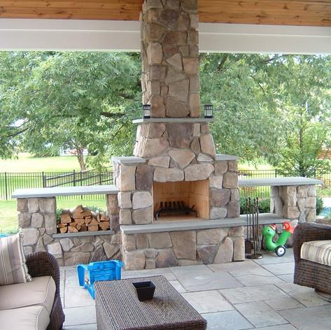 Outdoor Fireplace - Nurney Landscape & Design