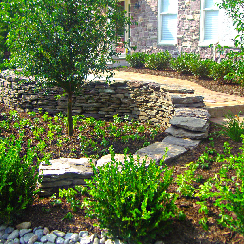 Tiered Terrance and Walkway