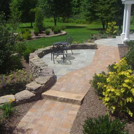 Residential Patio, Terraced Beds