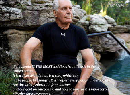 Sarcopenia IS THE MOST insidious health crisis in the United States. And there is a cure.