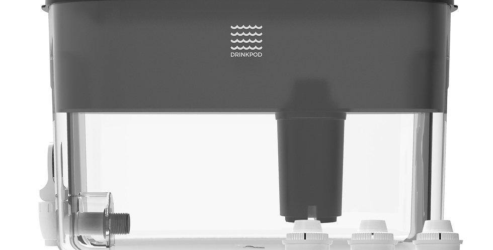 Black Drinkpod Dispenser Alkaline Countertop Water Filter Ionizer