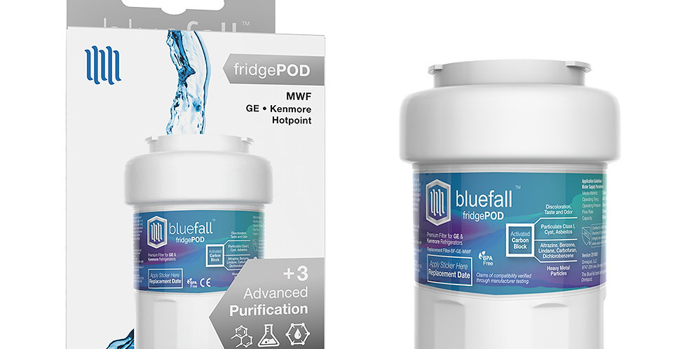 GE MWF Refrigerator Water Filter- Compatible by Bluefall