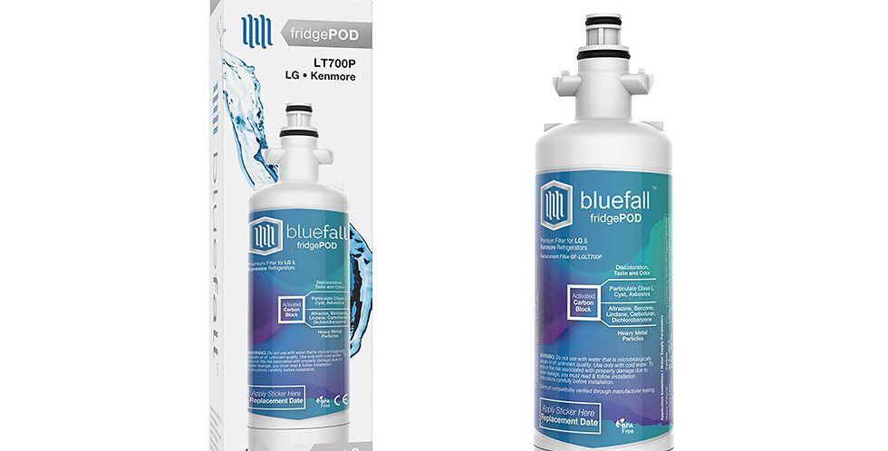 LG LT700P & Kenmore 469690 Refrigerator Water Filter- Compatible by Bluefall
