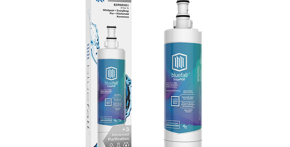 Whirlpool EDR5RXD1 Refrigerator Water Filter- Compatible by Bluefall