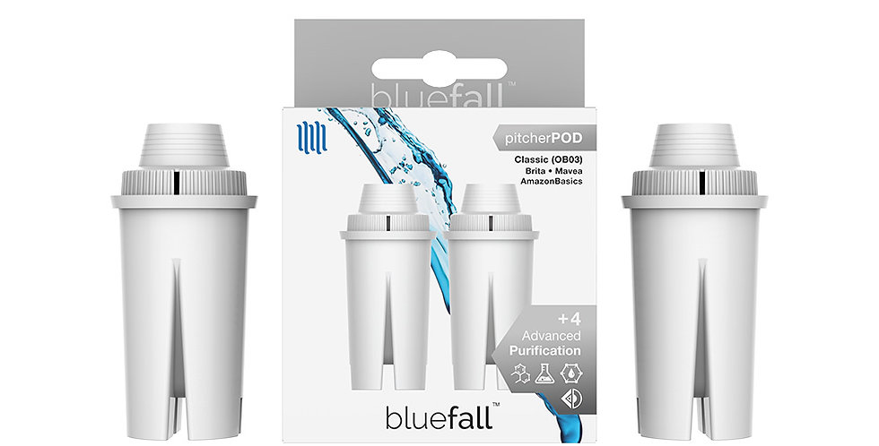 Brita Classic Water Filter Pitcher - Compatible by Bluefall