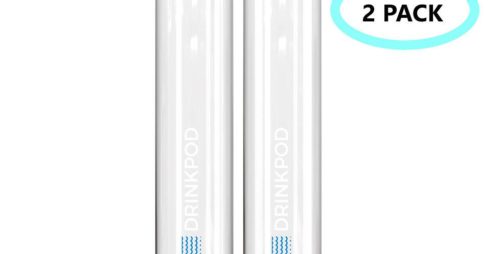 Fizzpod 1 Liter Slim Bottle Twin Pack