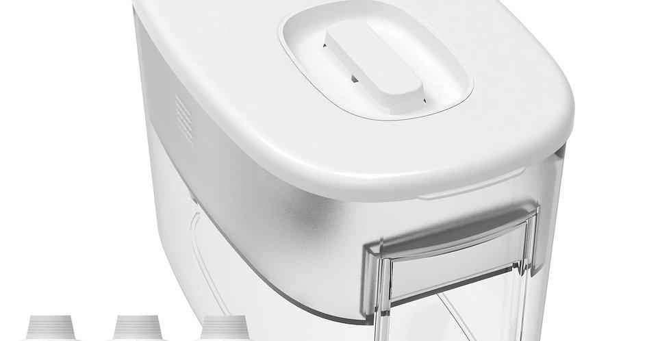 White Drinkpod Dispenser Alkaline Countertop Water Filter Ionizer