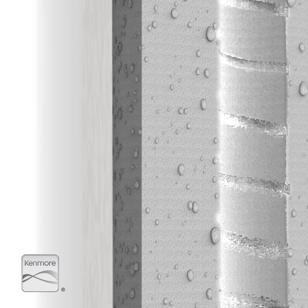 Particle Filter - Nano Fibers Bisected Closeup