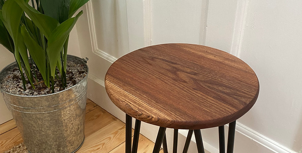 English Elm side table (BLACK)